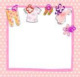 Babies scrapbook. Cute scrapbook  for girl with baby elements Stock Photos