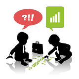 Babies searching for business solution Royalty Free Stock Images