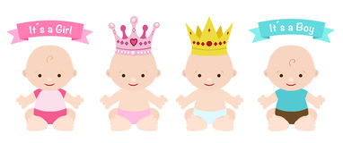 Babies set Stock Photography