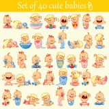 Babies set Stock Image