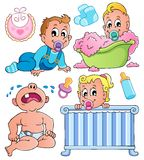 Babies theme collection 1 Stock Photos
