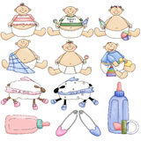 Babies & Things Royalty Free Stock Photo