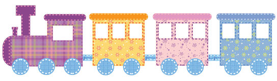 Babies train vector illustration