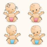 Babies. Vector illustration. Stock Image