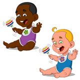 Babies. Vector illustration. funny children Stock Photos