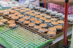 Babin candy is Thai style street coconut sweet pancake Stock Images