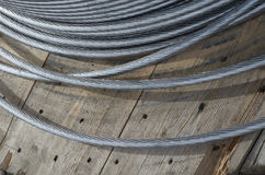 Free Babin With Coiled Aluminum Electrical Wires On The Street. Royalty Free Stock Photography - 99210897