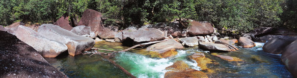 Babinda  Boulders or Devil`s Pool Royalty Free Stock Images