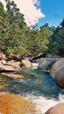 Babinda Boulders. Just south of Cairns a beautiful tourist place in the rainforest royalty free stock photos
