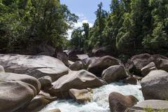 Babinda boulders in Queensland, Australia. Photograph of the Babinda boulders in Queensland, Australia royalty free stock photography