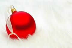 Babiole rouge de Noël Image libre de droits