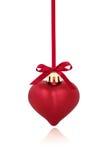 Babiole rouge de Noël de coeur Images stock