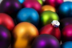 Babioles colorées de Noël Photographie stock