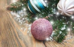 Babioles de décoration de Noël image stock