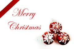 Babioles de flocon de neige avec Noël de décoration Photo libre de droits