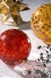 Babioles de mosaïque de Noël Photographie stock