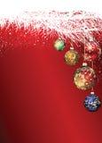 Babioles de Noël dans l'arbre Images libres de droits