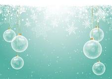 Babioles de Noël sur le fond de flocon de neige illustration stock
