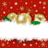 Babioles de Noël et espace de copie sur le fond tricoté Photo libre de droits