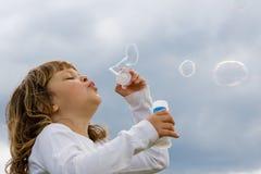 Babioles de soufflement de savon Photo stock