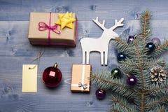 Babioles et décorations de Noël Image stock