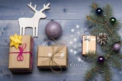 Babioles et décorations de Noël Photo libre de droits