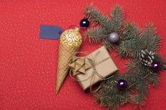 Babioles et décorations de Noël Images libres de droits