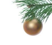 Babioles et pin de Noël Photo libre de droits