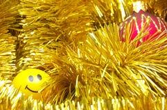 Babioles et sourire de Noël Photographie stock libre de droits
