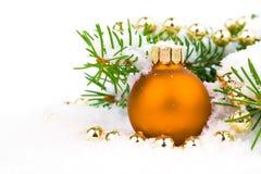 Babioles oranges de Noël Photo libre de droits