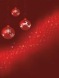 Babioles rouges de Noël Image libre de droits