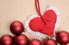 Babioles rouges de Noël Photo libre de droits
