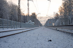 Babite的火车站 图库摄影