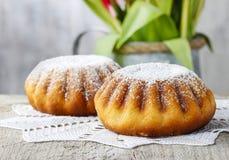 Babka - dolce di lievito tradizionale di pasqua, popolare in Europa Orientale Immagini Stock