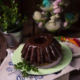 Babka polonais de schokolade Photo stock
