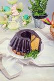 Babka polonais de schokolade Photographie stock libre de droits