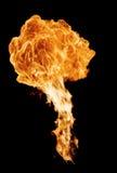 Babkground d'incendie d'isolement sur le noir photographie stock