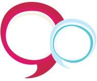Bable Blu & roze speek Stock Foto's