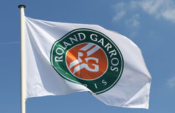 Babolat Roland Garros 2015 tennis ball at Le Stade Roland Garros in Paris, France Stock Photo