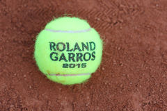 Babolat Roland Garros 2015 tennis ball at Le Stade Roland Garros Stock Photography