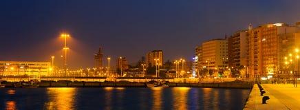 Babordo a Algesiras nella notte Immagine Stock Libera da Diritti