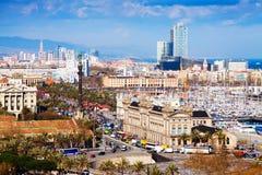 Babordo di Barceloneta e del Mediterraneo fotografia stock