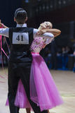 Baboshin Egor and Biryuk Olga perform Juvenile-1 Standard European program Royalty Free Stock Photography