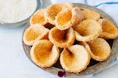 Babouches меда и сезама - популярный арабский десерт Арабский и стоковое фото