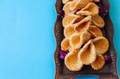 Babouches меда и сезама - популярный арабский десерт Арабский и Стоковые Фотографии RF