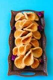 Babouches меда и сезама - популярный арабский десерт Арабский и Стоковое Изображение