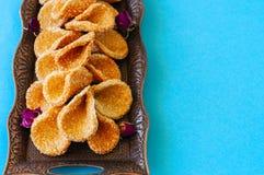 Babouches меда и сезама - популярный арабский десерт Арабский и Стоковые Изображения