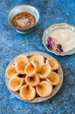 Babouches меда и сезама - популярный арабский десерт Арабский и Стоковая Фотография