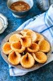 Babouches меда и сезама - популярный арабский десерт Арабский и Стоковое Изображение RF