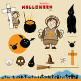 BabPin Halloween Ikone Stockfotos